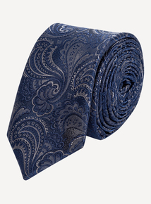 Blue Paisley Slim-Fit Tie & Pocket Square Set