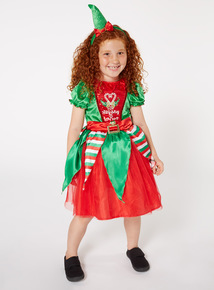 Green Christmas Elf Costume (1-10 years)