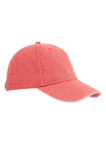 Red Washed Baseball Cap