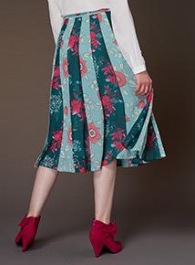 Premium Printed Panelled Skirt
