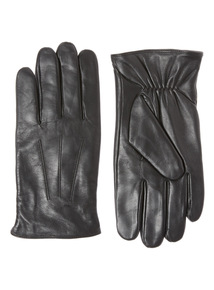 Black Leather Glove With Thinsulate Lining