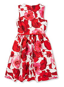 Red Floral Occasion Dress (3-12 years)
