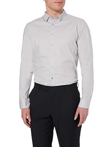 Grey Slim Stretch Shirt