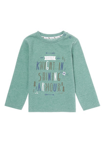 Green DC Knight Print Tee (0-24 months)