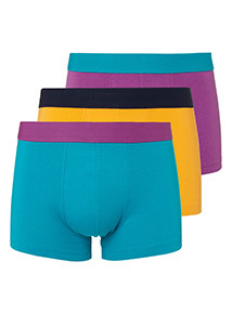 Multicoloured Colour Block Hipster Briefs 3 Pack