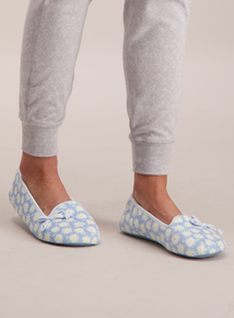08d7119789ac1f Blue Daisy Ballerina Slippers