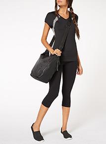 Black Urban Active Hobo Bag