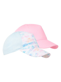 2 Pack Multicoloured Caps (1-13 years)