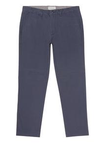 Blue Denim Straight Chino Trouser