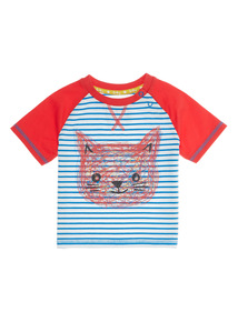 Multicoloured Stripe Tee (0 - 24 months)