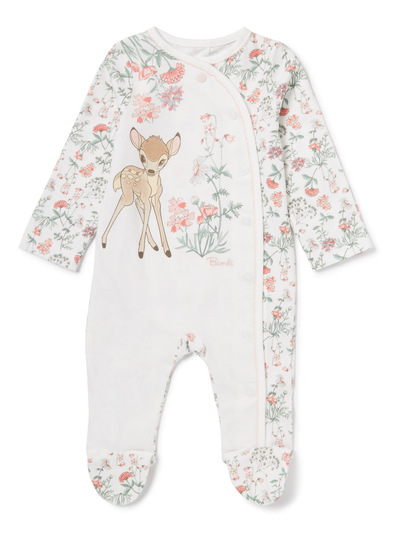 Baby Multicoloured Disney Bambi Floral Sleepsuit (0-12 ...