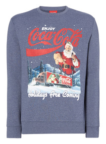 Blue Christmas Coca Cola Sweatshirt