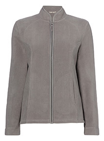 Zip Through Basic Fleece