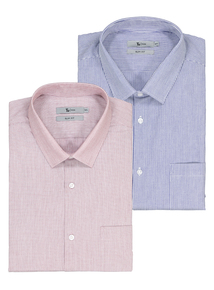 a5b80072d Online Exclusive Multicoloured Check Slim Fit Shirts 2 Pack