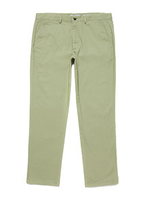 Light Khaki Straight Fit Chinos With Stretch
