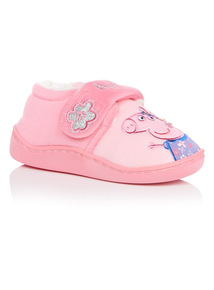 Girls Peppa Pig Velcro Slipper
