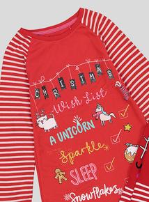 Christmas Red Nightdress & Socks (3-12 Years)