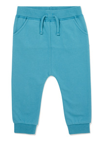 Blue Bug Embroidered Joggers (0-24 months)