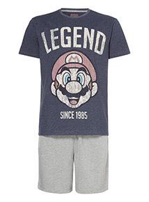 Navy Mario Pyjama Set