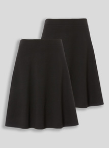 Black 2 Pack Jersey Skater Skirt (10-16 years)