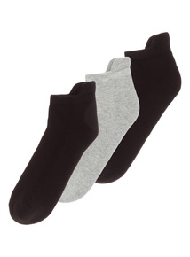 Black Cushioned Sole Socks 3 Pack