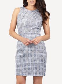 IZABEL Navy Geo Print Dress