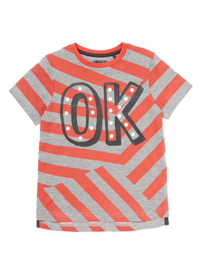 Red Striped OK tee (9 months-5 years)
