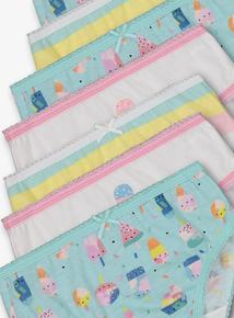 5201e0b12 Multicoloured Ice Cream Briefs 10 pack (18 months - 12 years)