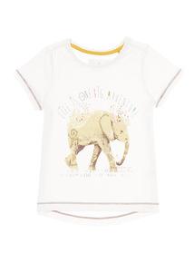 Multicoloured Glitter Elephant Tee (9 months-5 years)