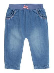 Girls Blue Bunny Detail Jean (0-24 months)