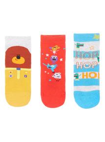 3 Pack Multicoloured Hey Duggee Socks (3-12 years)