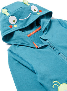Blue Bug Embroidered Zip Up Hoody (0-24 months)