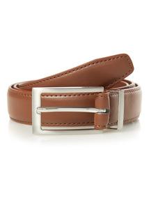 Tan PU Feather Edge Belt