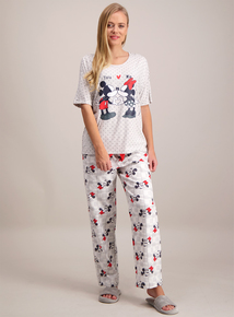 Disney Mickey & Minnie Mouse Grey Pyjamas