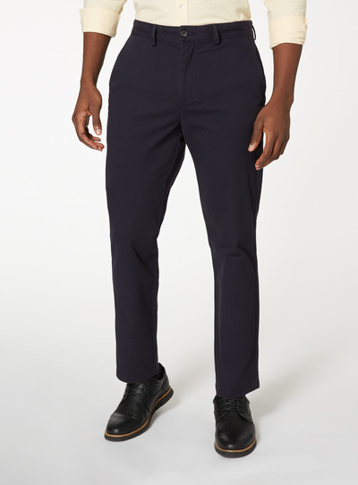 Navy Straight Chino With Stretch