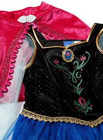 Multicoloured Disney Frozen Anna Fancy Dress Outfit