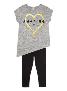 Multicoloured Awesome Tee And Leggings Set (3 - 12 years)