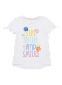 White Sunshine And Smiles T-Shirt (9 months-6 years)