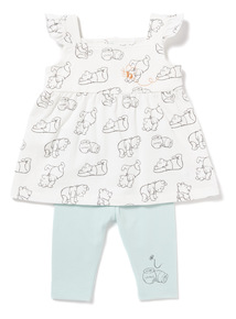 Multicoloured Disney Winnie The Pooh Jersey Set (Newborn-18 months)