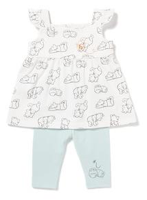 Multicoloured Winnie The Pooh Jersey Set (Newborn-18 months)