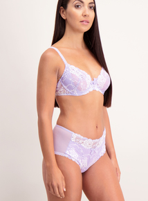 Lilac Lace Panel Short