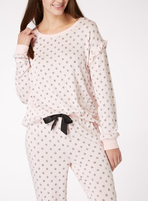 Pinspot Ruffle Pyjama Top