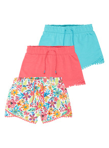 Jersey Shorts 3 Pack (9 months-5 years)