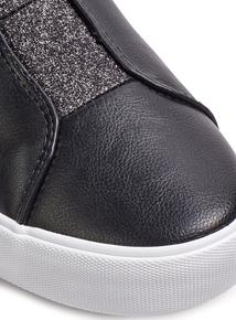 Black Glitter Skater Shoe