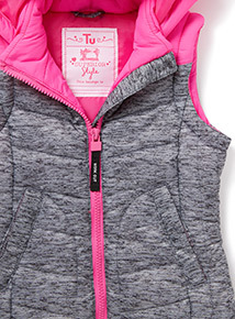 Grey and Pink Active Gilet (3-14 years)
