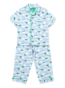 Blue Paper Planes Woven Pyjamas (1-10 years)