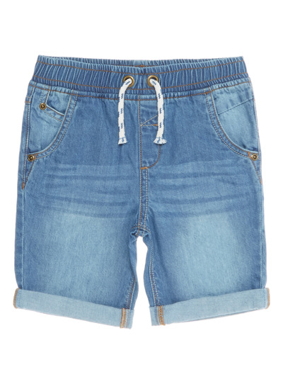 Boys Blue Denim Turn-up Shorts (9 months - 6 years)