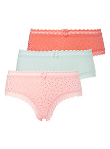 3 Pack Lace Trim Shorts