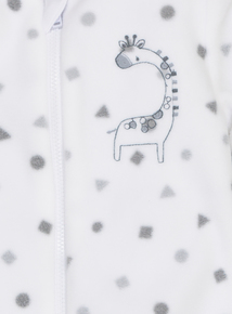 Cream Giraffe Design All In One (0-24 Months)