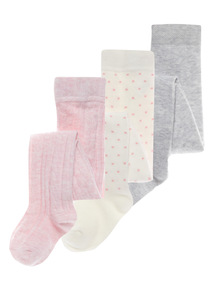 Cotton Rich Tights 3 Pack (0-24 months)
